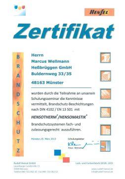 teilnahmezertifikat-hensotherm-brandschutz-wellmann